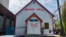orange hall vandalism