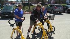 Robert Wein with Liquid Gym owner Karen Snyder.