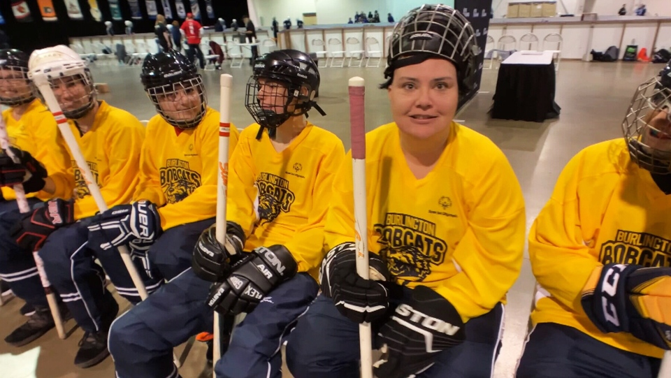 Members of the Burlington Bobcats at the 2019 Youth Invitational Games