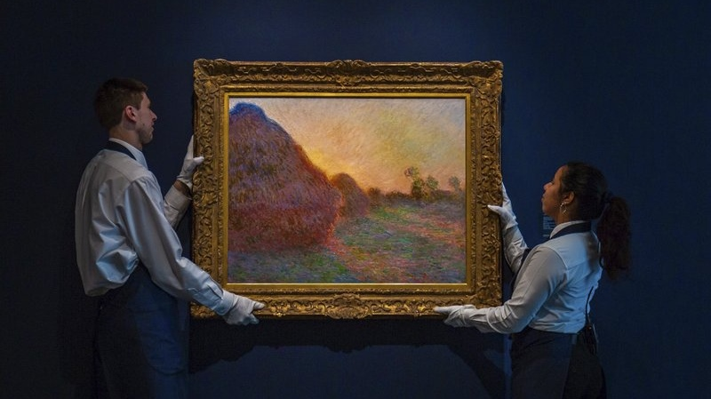 Claude Monet haystack painting fetches US$110.7M at auction