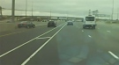 Police have released dash camera video of a fail-to-remain crash on Highway 410 in Mississauga.