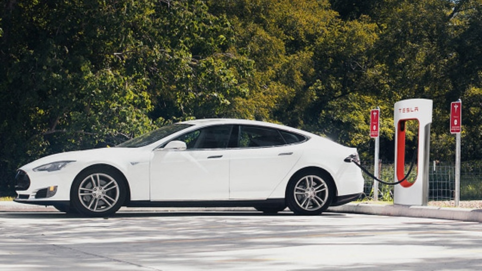 A popular selling point for electric vehicles is the notion that you never have to stop for gas. (AFP / Tesla Motors)
