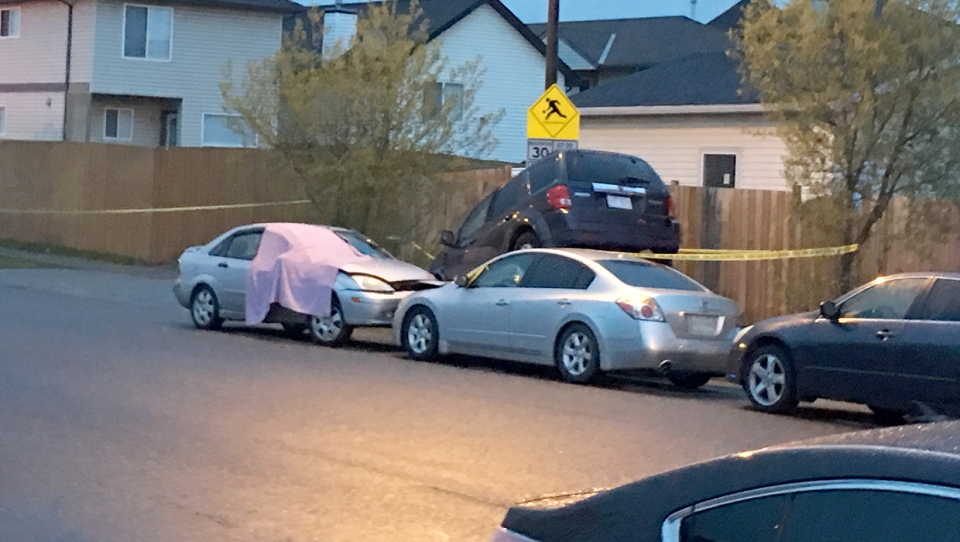 Police were called to the 200 block of Taradale Cove N.E. just before midnight for reports of a collision and arrived to find a young man dead inside a car.