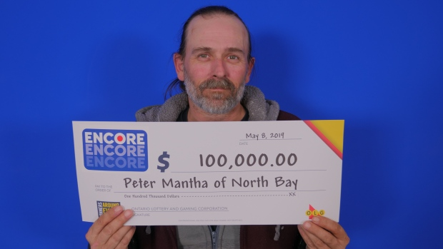 Peter Mantha of North Bay wins $100,000 in lottery