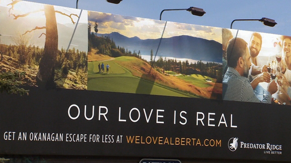 A Predator Ridge billboard is seen in Edmonton.