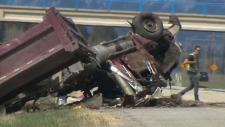 calgary rcmp police gravel truck cochrane