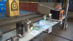 Edmonton police show equipment seized from a cannabis extraction lab in a home.