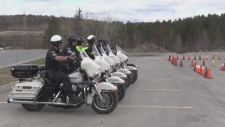 Traffic officers from Sault Ste. Marie and Sudbury take part in a special motorcycle skills training course. Ian Campbell reports.