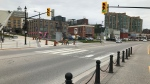 A rainbow crosswalk will be created in downtown Barrie.  Wed., May 15, 2019 (CTV News/Aileen Doyle)
