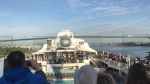 A view from the deck of Royal Caribbean's Ovation of the Seas as it cruises into Vancouver May 12th