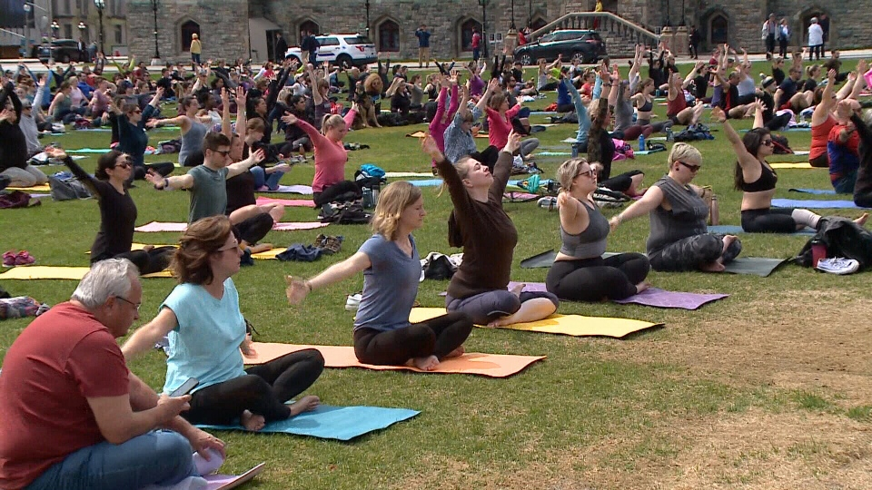 Yoga on the Hill.