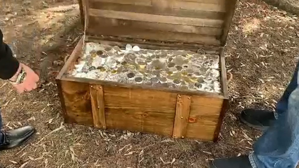 The group behind Goldhunt.ca have buried three boxes filled with $100,000 worth of gold and silver in Calgary, Edmonton and Vancouver. (Supplied)