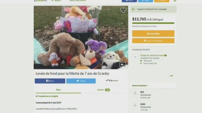 The GoFundMe campaign raised more than $11,000 following the girl's death.