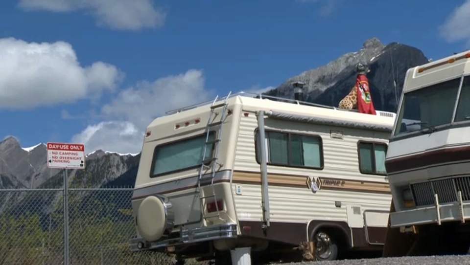 A new Canmore in bylaw will require illegal campers on a popular roadway to move their rigs every morning between 7 and 9