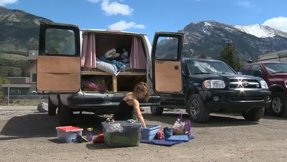 Canmore, illegal, camping, housing, RVs, makeshift
