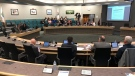 Enbridge Gas addresses Essex County Council about a proposed pipeline in Essex, Ont., on Wednesday, May 16, 2019. (Alana Hadadean / CTV Windsor)
