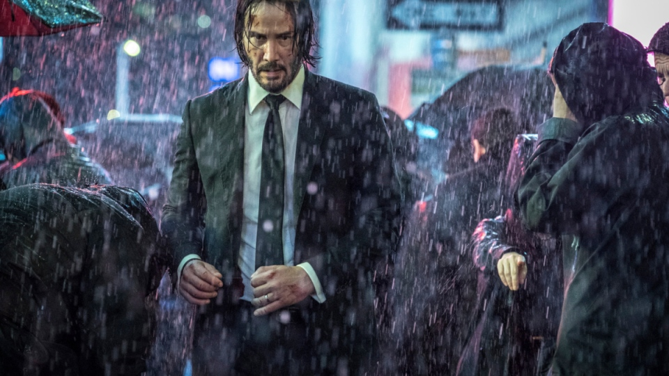 Keanu Reeves in a scene from 'John Wick: Chapter 3 - Parabellum.'  (Niko Tavernise / Lionsgate via AP)