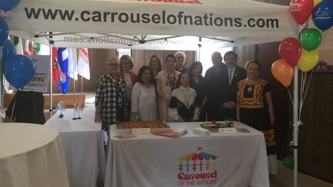 Organizers celebrate four villages in the 44th installment the Carrousel of the Nations in Leamington, Ont., on Thursday, May 16, 2019. (Bob Bellacicco / CTV Windsor)