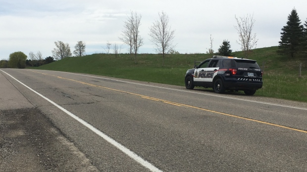 A WRPS cruiser on the side of the road