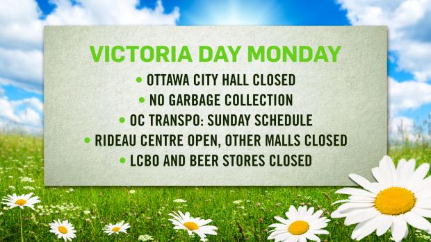 Victoria Day schedule changes