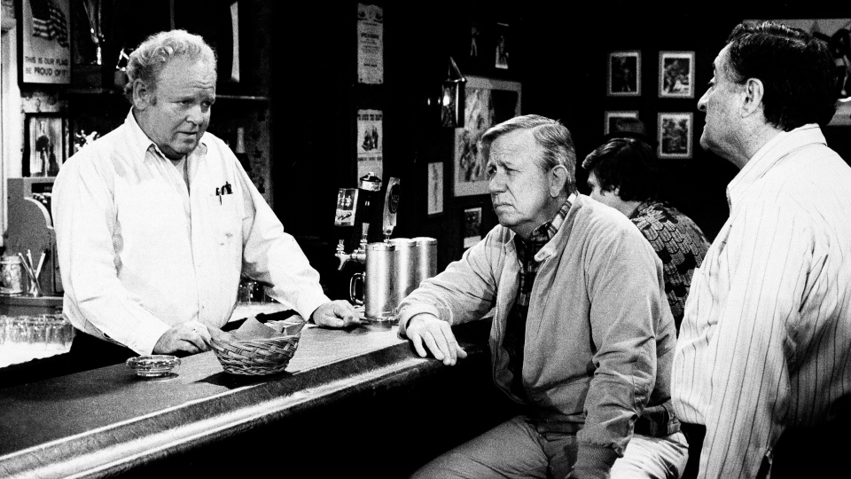 "Allan Melvin, center, plays Barney Hefner in a scene from a 1981 episode of the ""Archie Bunker's Place"" television series, with Carroll O'Connor, who played the title character, and Jason Wingreen, right. (AP Photo)"