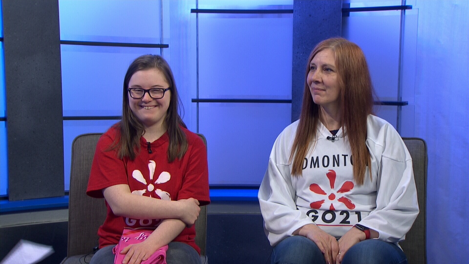 Kristen and Heather Pospisil appeared on CTV Morning Live to promote the upcoming GO 21 YEG Walk for Down Syndrome.