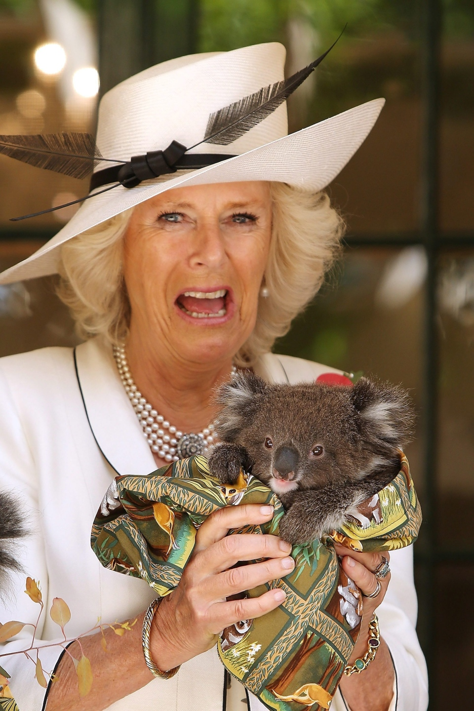 Britain's Camilla, the Duchess of Cornwall, holds a koala at Government House Wednesday, Nov. 7, 2012, in Adelaide, Australia.(AP Photo/Morne de Klerk, Pool)
