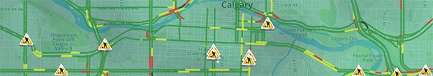 Calgary traffic header