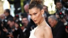 Model Bella Hadid poses for photographers upon arrival at the premiere of the film 'Rocketman' at the 72nd international film festival, Cannes, southern France, Thursday, May 16, 2019. (Photo by Joel C Ryan/Invision/AP)