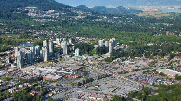 Coquitlam Centre is pictured from above in May 2019. (Pete Cline / CTV News Vancouver)
