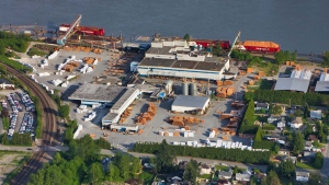 The Hammond cedar sawmill is pictured in Maple Ridge in May 2019. (Pete Cline / CTV News Vancouver)