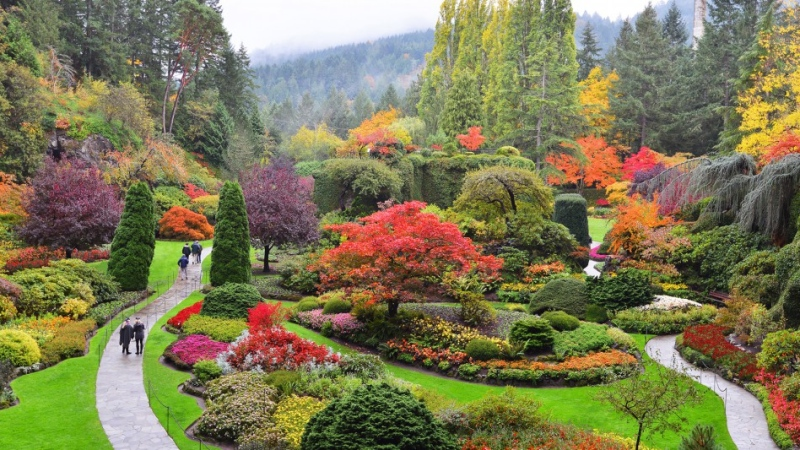 Staff say failure to follow these guidelines will result in immediate removal from the grounds. (Butchart Gardens)