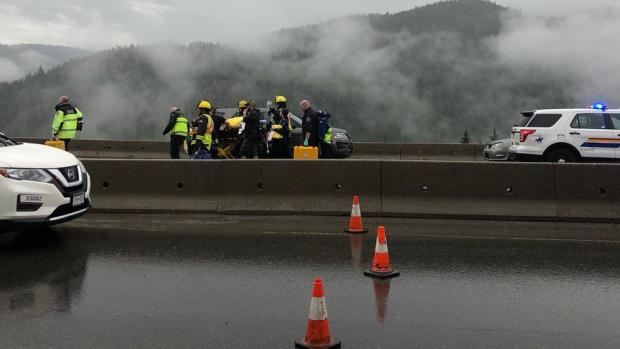 Deadly multi-vehicle crash shuts down Coquihalla Highway between