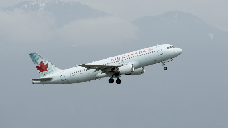 A Air Canada plane takes off from Vancouver International Airport in Richmond, B.C., Monday, May 13, 2019. THE CANADIAN PRESS/Jonathan Hayward
