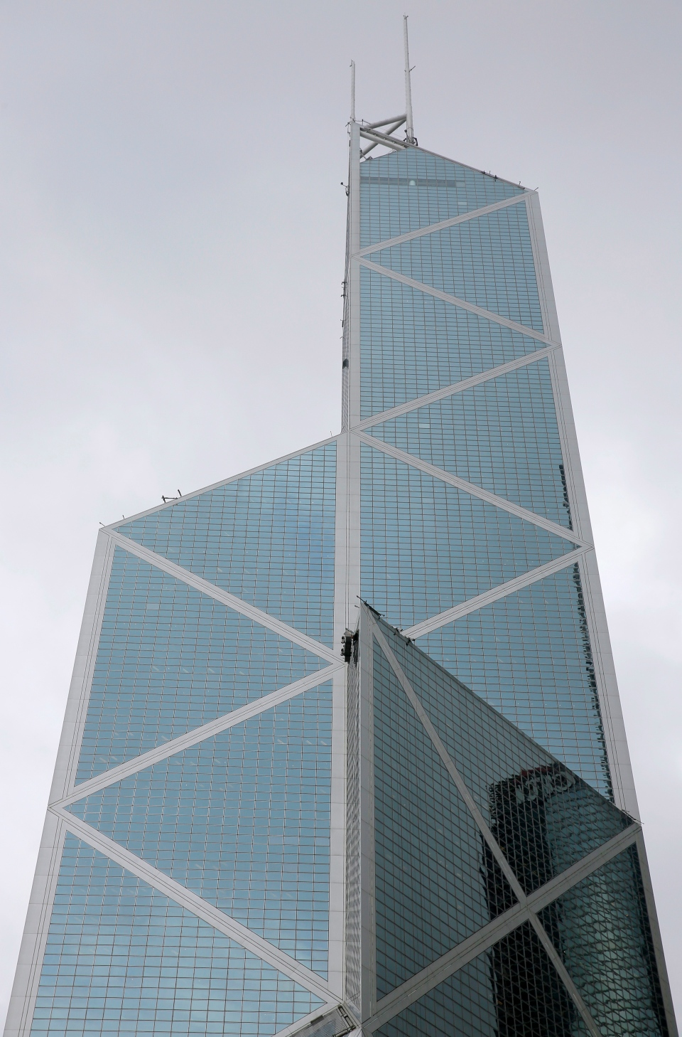Bank of China Tower, a building designed by architect I.M. Pei, is seen in Hong Kong Friday, May 17, 2019. (AP Photo/Vincent Yu)