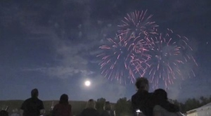 Timmins fireworks on Canada Day