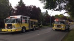Victoria Fire responded to a blaze at Blanshard Courts that officials are calling 'suspicious.' May 17, 2019. (CTV Vancouver Island)