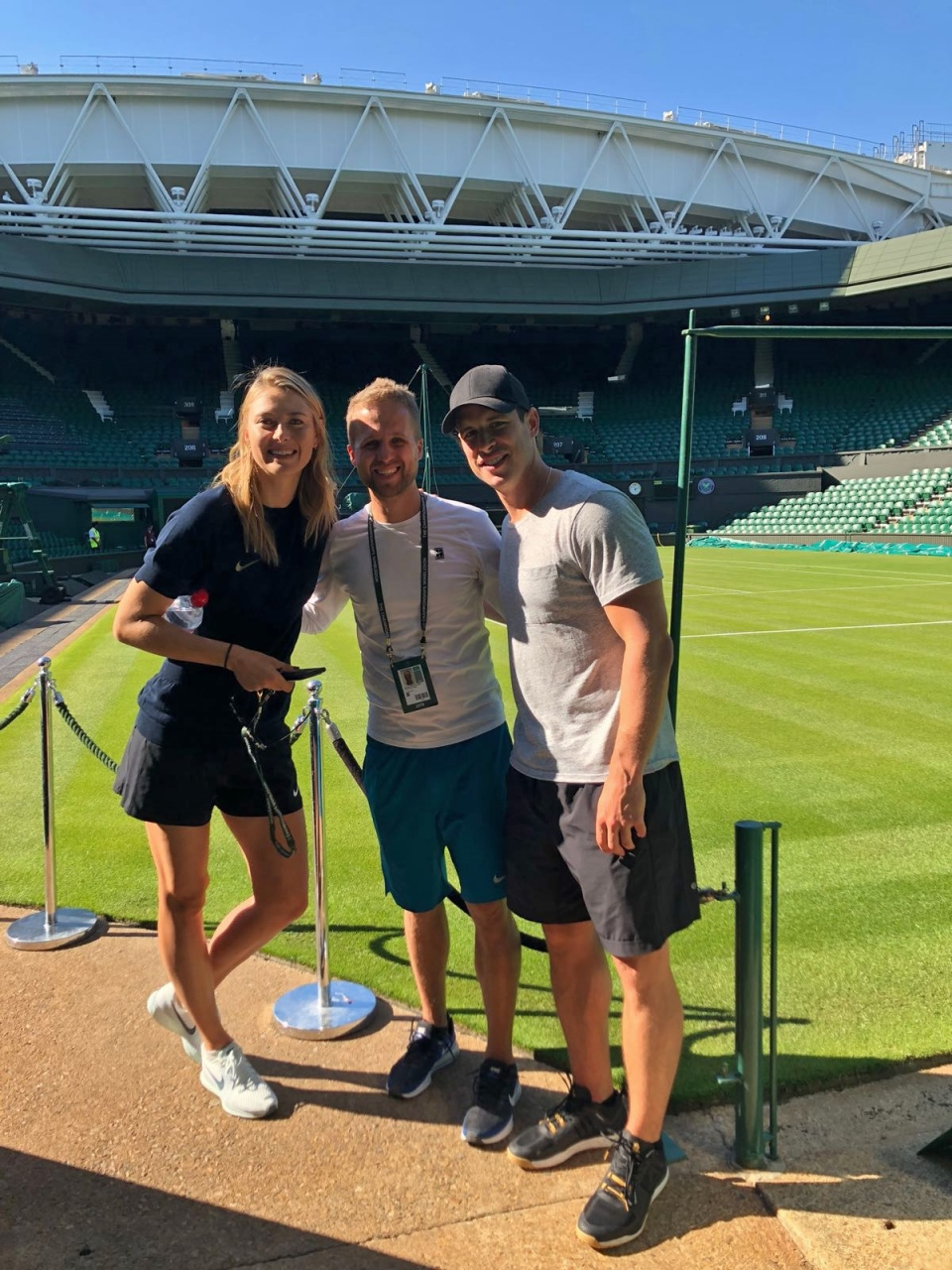 Strength and conditioning coach and massage therapist Marcin Goszczynski, centre, poses for a photo with Maria Sharapova and Sidney Crosby in this undated handout photo. THE CANADIAN PRESS/HO, Marcin Goszczynski