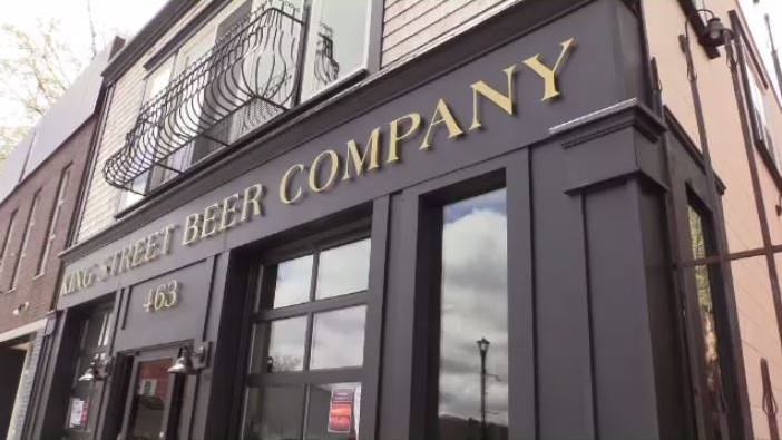 A number of businesses have opened on King Street since the fire, including this craft brewery.