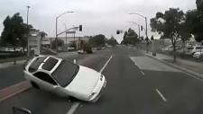Warning: Acura jumps into transport truck