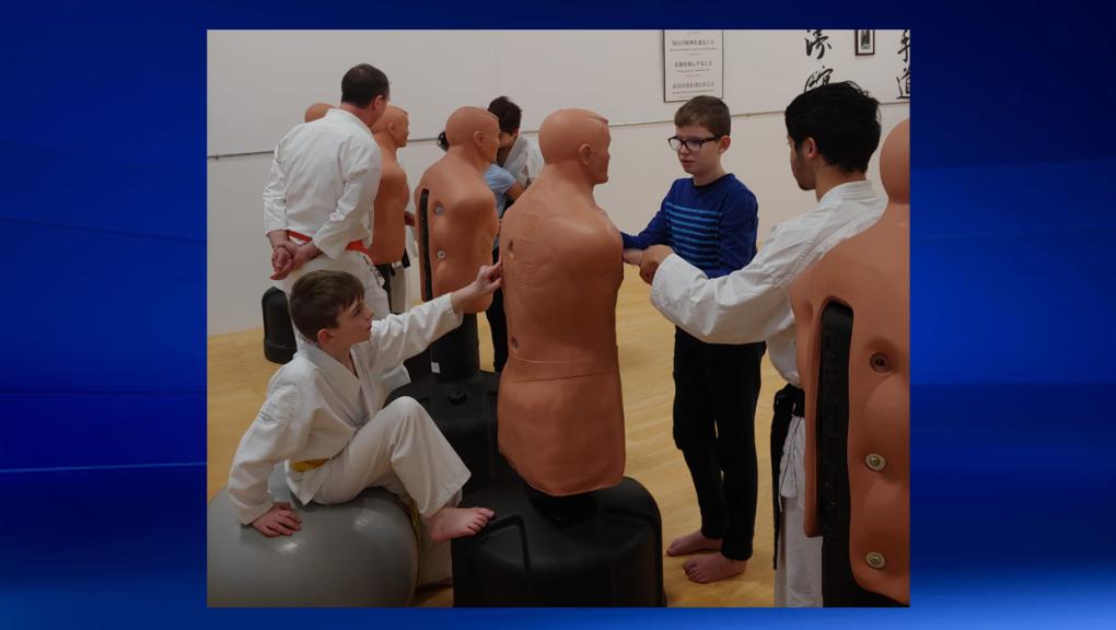 Calgary studio teaches karate to blind students