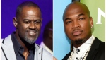 This combination of photos shows musicians, from left, Brian McKnight at the Wal-Mart shareholder meeting in Fayetteville, Ark., on June 5, 2015 and Ne-Yo at the 2017 NBCUniversal Summer Press Day in Beverly Hills, Calif. on March 20, 2017.(AP Photo)