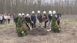 A ground-breaking ceremony is held in Penetanguishene on Fri., May 17, 2019 at the site of a future hospice. (CTV News/Craig Momney)