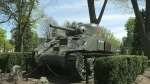 Anger over damage to London's 'Holy Roller' tank
