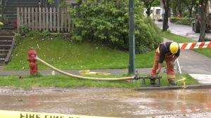 Water main break in Vancouver