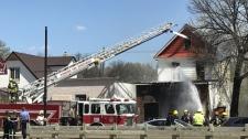 Fire on Selkirk Avenue.