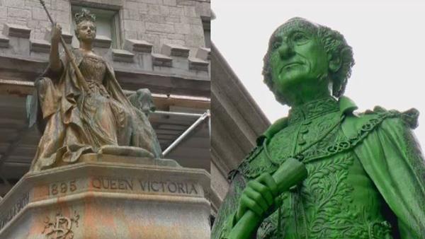 Queen Victoria and MacDonald statues