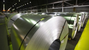Rolls of coiled coated steel are shown at Stelco before a visit by the Chrystia Freeland, Minister of Foreign Affairs, in Hamilton on June 29, 2018. The lifting of American tariffs on imported steel and aluminum from Canada is receiving a guarded welcome. Economists say there will be only a minimal impact on the overall Canadian economy but will have a sizable impact on a few industries, such as the automotive sector. THE CANADIAN PRESS/Peter Power