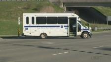 Motorcyle bus crash Trussler