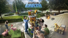 'Minecraft Earth' uses mobile cameras, geolocation and cloud computing to add 'Minecraft' elements to players' surrounds. (Microsoft)